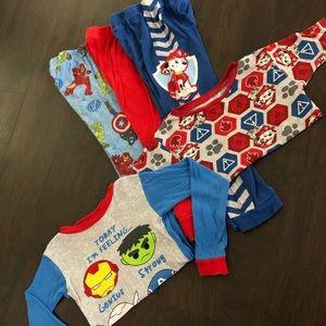 Bundle boys PJ's Pajamas 4